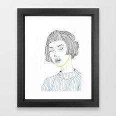 DoodleGirl Three Framed Art Print
