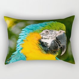 Blue and Gold Macaw Parrot Rectangular Pillow