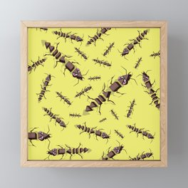 Ants erase and rewind Framed Mini Art Print