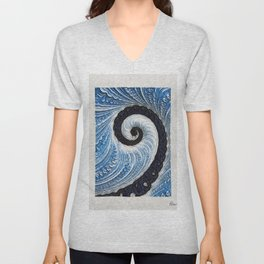 Winters Ice by Pierre Blanchard Unisex V-Neck
