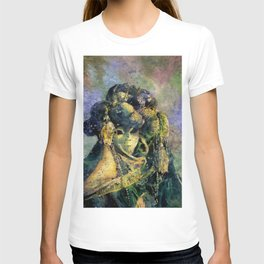 Fine art watercolor painting of elaborately dressed masked person during Carnival in Venice, Italy T-shirt