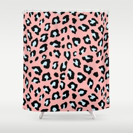 Leopard Print - Icy Peach Shower Curtain