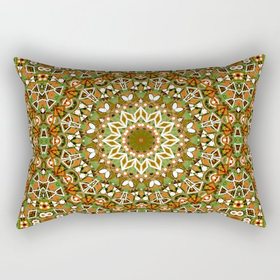 Colorful ethnic ornament . Rectangular Pillow