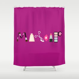 Makeup Shower Curtain