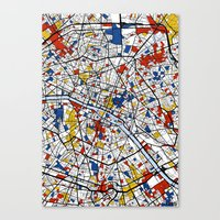 mondrian Canvas Prints featuring Paris Mondrian by Mondrian Maps