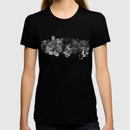 Richmond skyline in black watercolor T-shirt