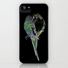 Pink Budgies iPhone Case