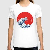 kaiju T-shirts featuring Hokusai kaiju by Marco Mottura - Mdk7