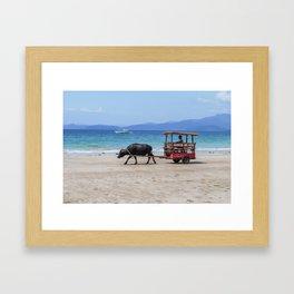 Man and Beast Framed Art Print