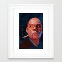 fear and loathing Framed Art Prints featuring Fear & Loathing by RileyStark