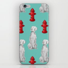 HYDRANTS AND WEIMARANERS iPhone Skin