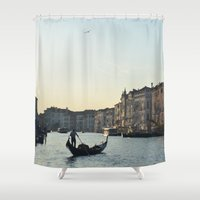 venice Shower Curtains featuring Venice by Kaamil Ajmeri