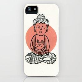 Salmon Buddha iPhone Case