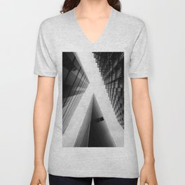 Modern Buildings London Finance Abstract Unisex V-Neck