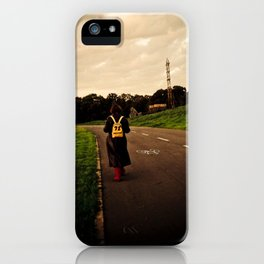 Let your feet take you there. iPhone Case