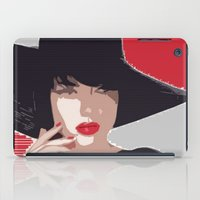 duvet cover iPad Cases featuring THE LOVELY LOVE DUVET COVER by aztosaha