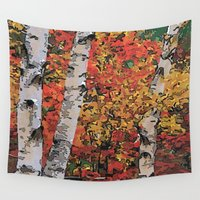 birch Wall Tapestries featuring Birch Trees by Ron Trickett (Rockett Graphics)