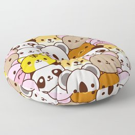 Cute baby animals  Floor Pillow