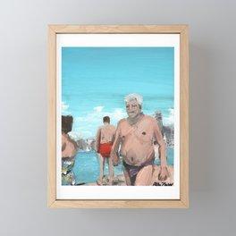 baia azzurra, italy 2020 Framed Mini Art Print