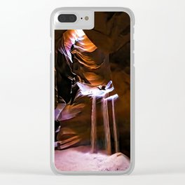 Molten Time Clear iPhone Case