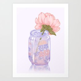 Pearl Soda Art Print