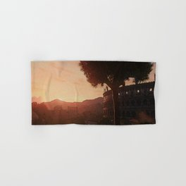 Sunset on ancient Rome Hand & Bath Towel