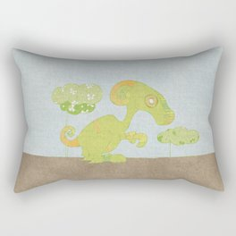 Kangaroo Go-Go Green Rectangular Pillow