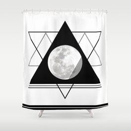Uneven Geometry Shower Curtain