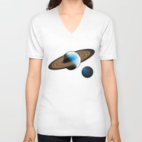 planets V-neck T-shirts featuring Planets by Kaitlynn Marie