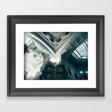 Desolación en interiores Framed Art Print