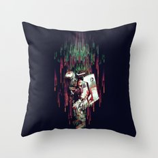 Falling from the Space Throw Pillow