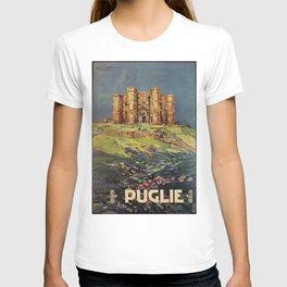 Apulia Castle del Monte vintage Italian travel ad T-shirt