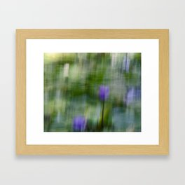 Tropical Impressionism (Purple Water Lily) Framed Art Print