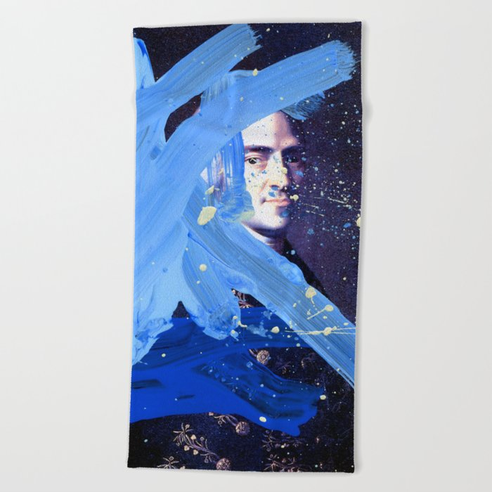 Blue Explosion Beach Towel