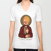 enjolras V-neck T-shirts featuring a savage antinous by monsternist