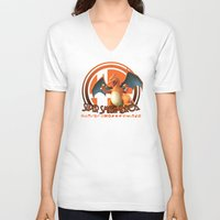 smash bros V-neck T-shirts featuring Charizard - Super Smash Bros. by Donkey Inferno