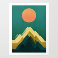 Gold Peak Art Print