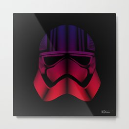 Captain Phasma Line Art By Kaydesign Metal Print