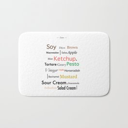 Condiments Bath Mat