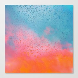 Cotton Candy Cloud Drips Canvas Print