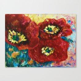 Three Poppies by Lena Owens @OLena Art #Society6 Canvas Print