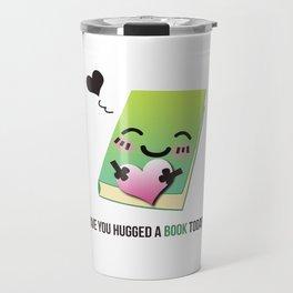 Book Emoji Love Travel Mug