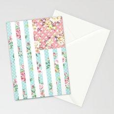 Flower Flag USA Stationery Cards
