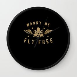 Pilot Pilots Presents Stewardess Airport Wall Clock