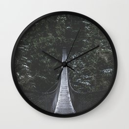 Lynn Canyon Suspension Bridge Wall Clock