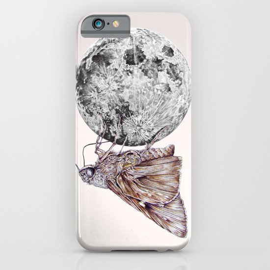 In which a moth is enticed by the light of the moon iPhone & iPod Case