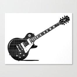 Black Guitar Canvas Print
