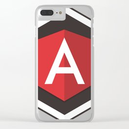 Angular Js developer sticker angularjs javascript framework Clear iPhone Case