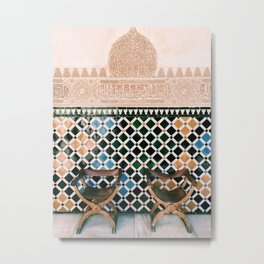 Alhambra Seats Metal Print