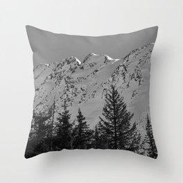 Gwin's Winter Vista - B & W Throw Pillow